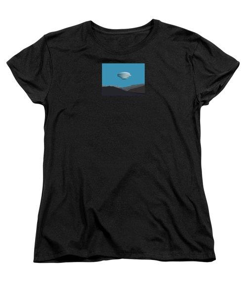 San Jacinto Mts With Lenticular Cloud Women's T-Shirt (Standard Cut)