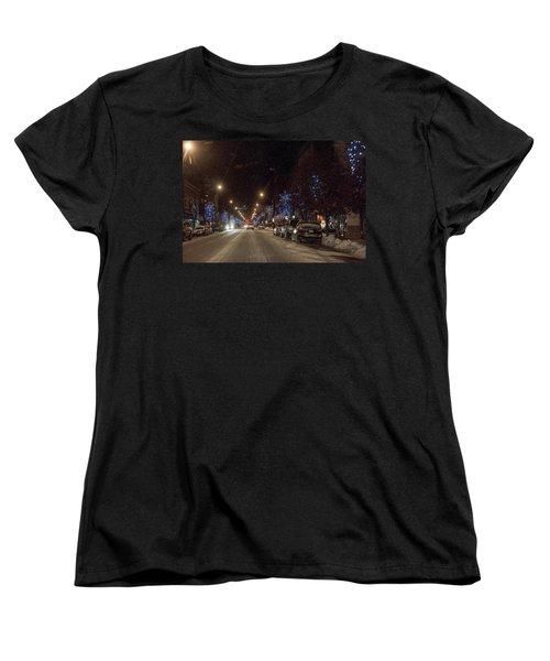 Women's T-Shirt (Standard Cut) featuring the photograph Santa Visits Bradford by Wade Aiken