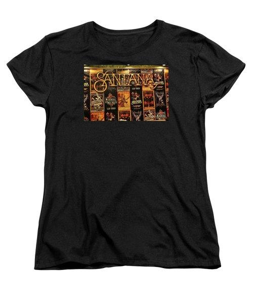 Santana House Of Blues Women's T-Shirt (Standard Cut) by Chuck Kuhn