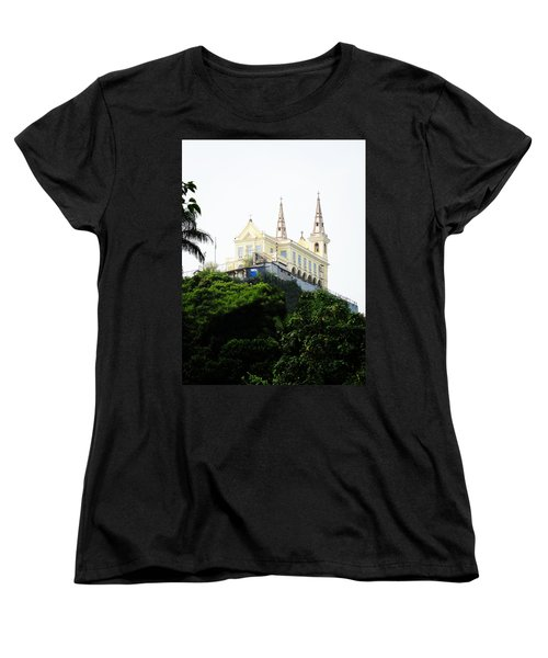 Women's T-Shirt (Standard Cut) featuring the photograph Santuario Da Penha by Zinvolle Art