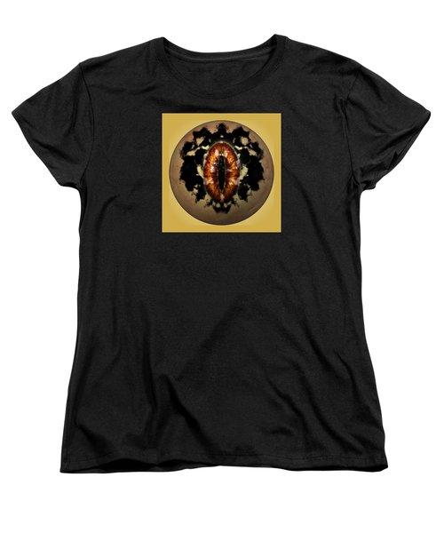 Women's T-Shirt (Standard Cut) featuring the digital art Sauron's Eye by Mario Carini