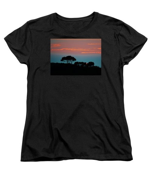 Savannah Sunset Women's T-Shirt (Standard Cut) by William Bartholomew
