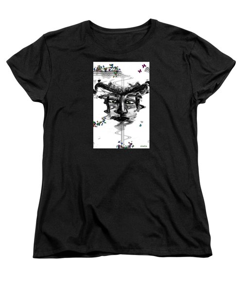 Women's T-Shirt (Standard Cut) featuring the drawing Save Me  by Sladjana Lazarevic