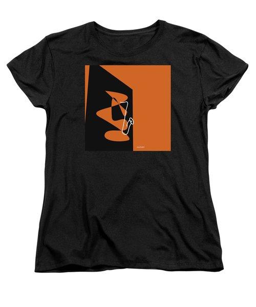 Saxophone In Orange Women's T-Shirt (Standard Cut) by David Bridburg