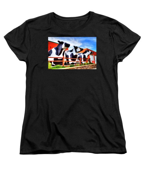 Say Cheese Women's T-Shirt (Standard Cut) by Dale R Carlson