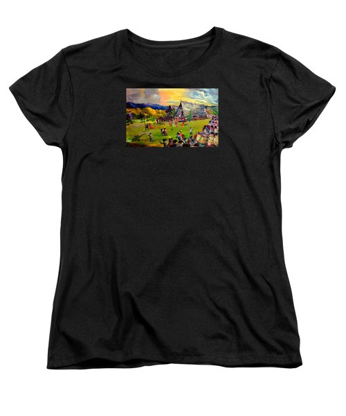 Women's T-Shirt (Standard Cut) featuring the painting Sbiah Baah by Jason Sentuf