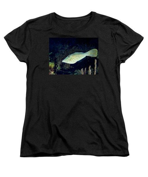 Women's T-Shirt (Standard Cut) featuring the photograph Scrawled Filefish by Jean Noren