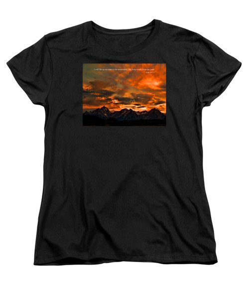 Scripture And Picture Psalm 121 1 2 Women's T-Shirt (Standard Cut) by Ken Smith