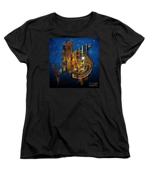 Women's T-Shirt (Standard Cut) featuring the painting Sea Fish by Alexa Szlavics