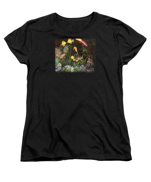 Women's T-Shirt (Standard Cut) featuring the painting Sea Harmony by Carol Sweetwood