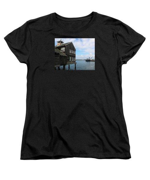 Women's T-Shirt (Standard Cut) featuring the photograph Seaport Village San Diego by Cheryl Del Toro