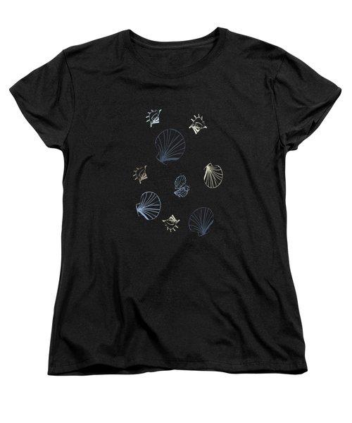 Seashell Pattern Women's T-Shirt (Standard Cut) by Christina Rollo