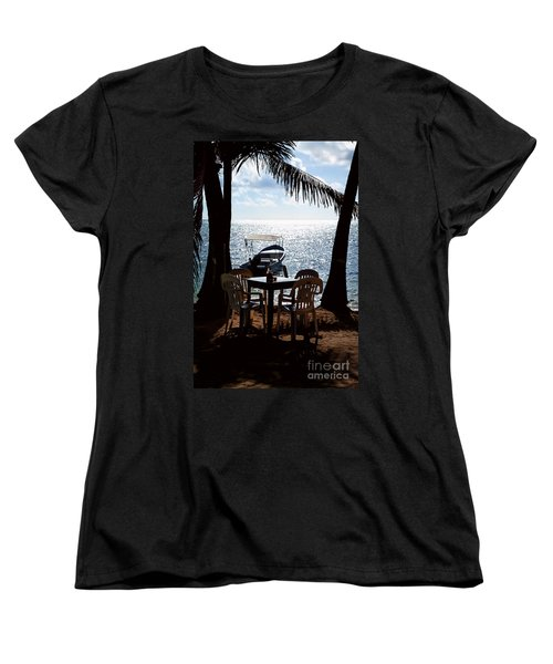 Seaside Dining Women's T-Shirt (Standard Cut) by Lawrence Burry