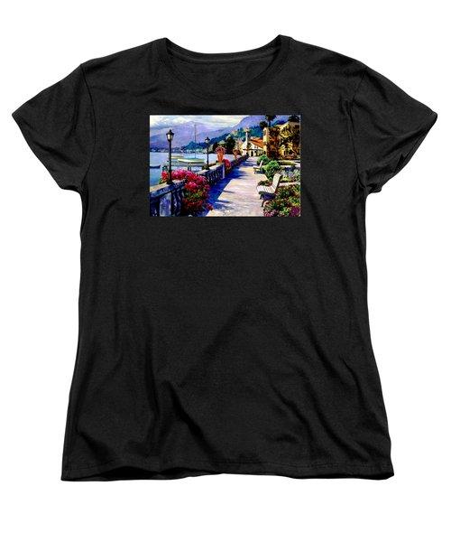 Seaside Pathway Women's T-Shirt (Standard Cut) by Ron Chambers