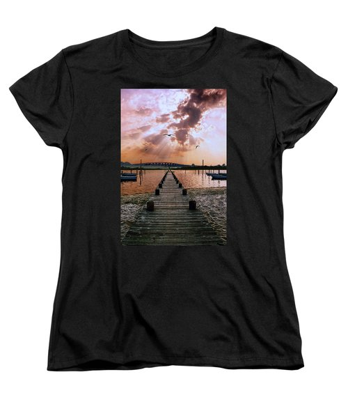 Seaside Women's T-Shirt (Standard Cut) by Steve Karol