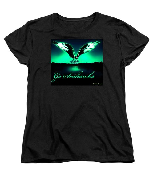 Women's T-Shirt (Standard Cut) featuring the photograph Seattle Seahawks by Eddie Eastwood