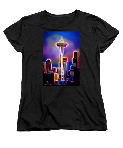 Women's T-Shirt (Standard Cut) featuring the photograph Seattle Space Needle 1 by Aaron Berg
