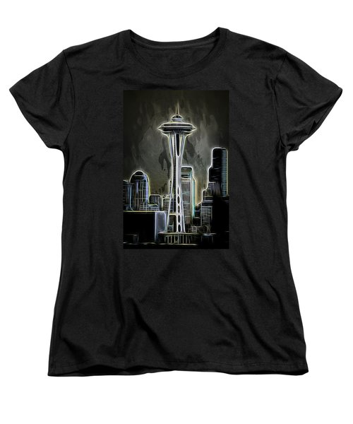 Women's T-Shirt (Standard Cut) featuring the photograph Seattle Space Needle 2 by Aaron Berg
