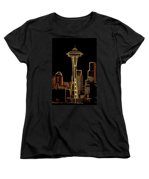 Women's T-Shirt (Standard Cut) featuring the photograph Seattle Space Needle 3 by Aaron Berg