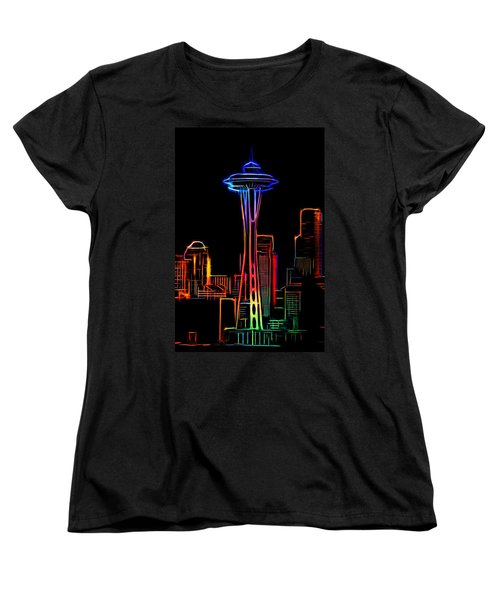 Women's T-Shirt (Standard Cut) featuring the photograph Seattle Space Needle 4 by Aaron Berg