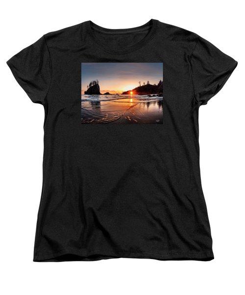 Second Beach 3 Women's T-Shirt (Standard Cut) by Leland D Howard
