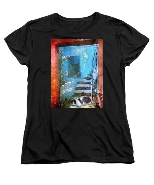 Secret Space Women's T-Shirt (Standard Cut) by Alexis Rotella