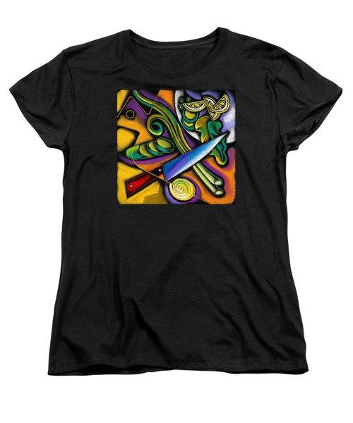 Tasty Salad Women's T-Shirt (Standard Cut) by Leon Zernitsky