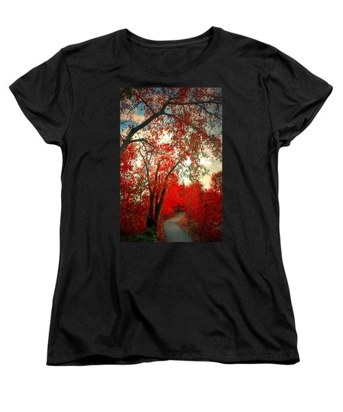 Women's T-Shirt (Standard Cut) featuring the photograph Seeing Red 2 by Tara Turner