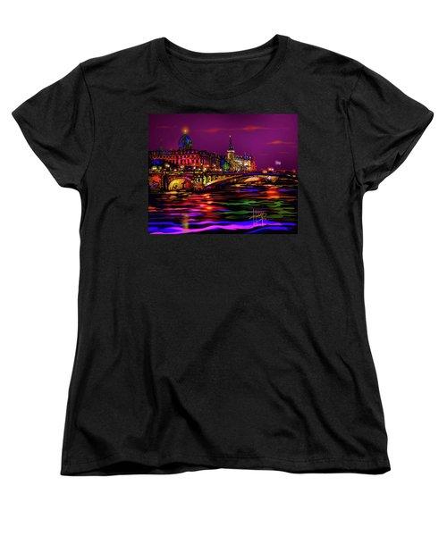 Seine, Paris Women's T-Shirt (Standard Cut) by DC Langer