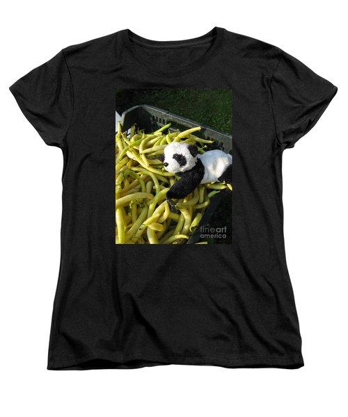 Women's T-Shirt (Standard Cut) featuring the photograph Selling Beans by Ausra Huntington nee Paulauskaite