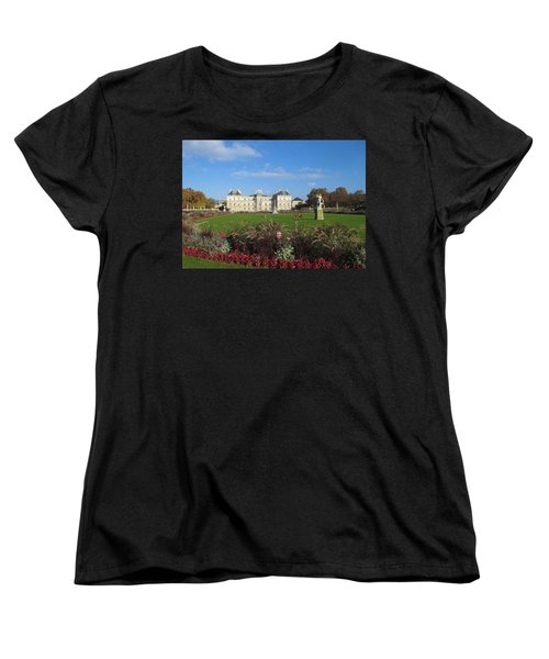 Women's T-Shirt (Standard Cut) featuring the photograph Senate From Jardin Du Luxembourg by Christopher Kirby