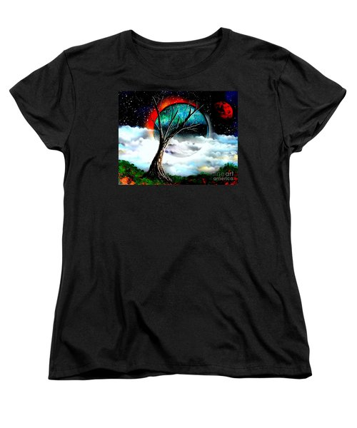 Women's T-Shirt (Standard Cut) featuring the painting Sentinel 4679 E by Greg Moores