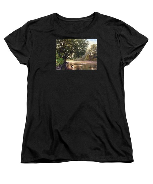 September Dawn Little Sioux River - Plein Air Women's T-Shirt (Standard Cut) by Bruce Morrison