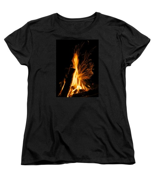 Set The Night On Fire Women's T-Shirt (Standard Cut) by Jane Eleanor Nicholas