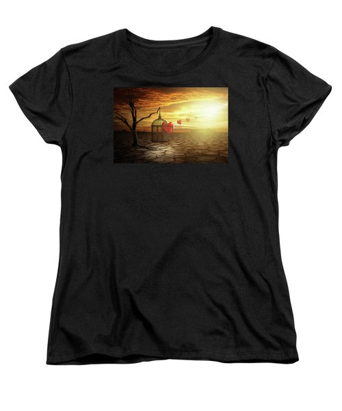 Women's T-Shirt (Standard Cut) featuring the digital art Set Your Self Free by Nathan Wright