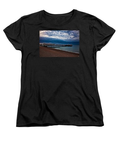 Seven Am On Brighton Seafront Women's T-Shirt (Standard Cut) by Chris Lord