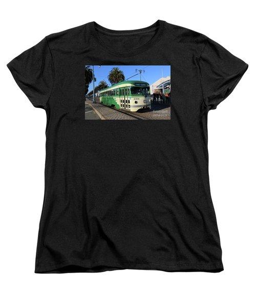 Sf Muni Railway Trolley Number 1006 Women's T-Shirt (Standard Cut) by Steven Spak
