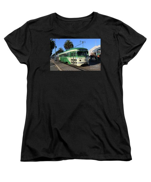 Women's T-Shirt (Standard Cut) featuring the photograph Sf Muni Railway Trolley Number 1006 by Steven Spak
