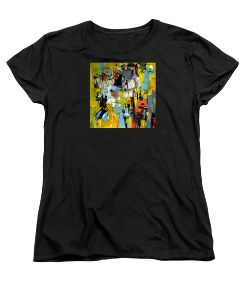 Women's T-Shirt (Standard Cut) featuring the painting Shades Of Yellow by Katie Black