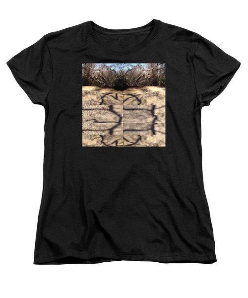 Shadow Crack Lines Women's T-Shirt (Standard Cut)