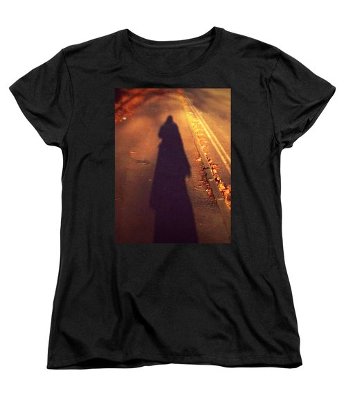 Women's T-Shirt (Standard Cut) featuring the photograph Shadow by Persephone Artworks