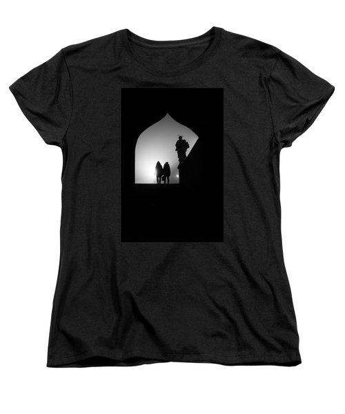 Women's T-Shirt (Standard Cut) featuring the photograph Shadows by Jenny Rainbow
