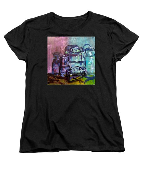 Shadows Through Glass Women's T-Shirt (Standard Cut) by Barbara O'Toole