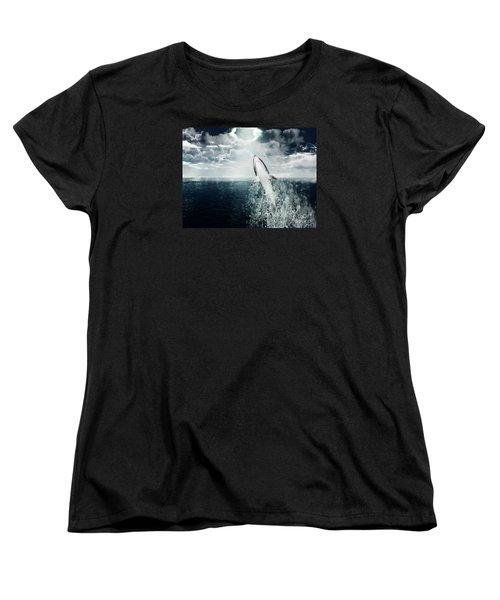 Shark Watch Women's T-Shirt (Standard Cut)