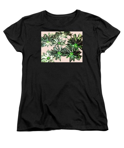 Shasta Daisies Watercolor Sketch Women's T-Shirt (Standard Cut) by Merton Allen