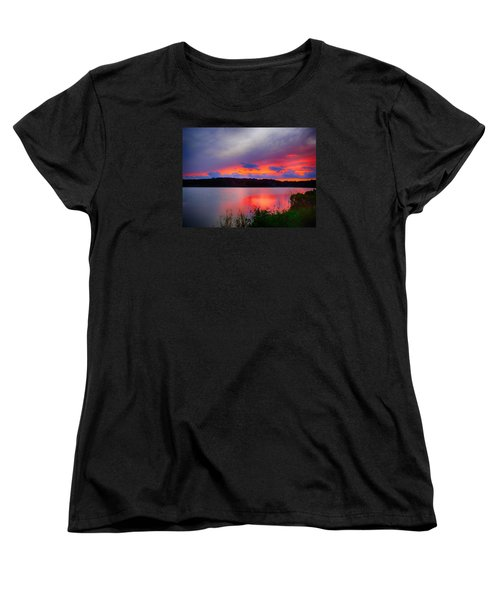 Women's T-Shirt (Standard Cut) featuring the photograph Shelf Cloud At Sunset by Bill Barber