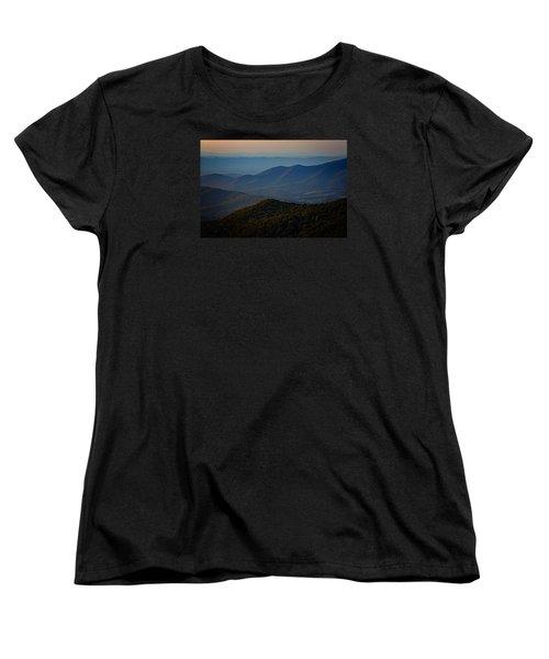 Shenandoah Valley At Sunset Women's T-Shirt (Standard Cut)