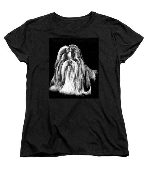 Shih Tzu Women's T-Shirt (Standard Cut) by Rachel Hames