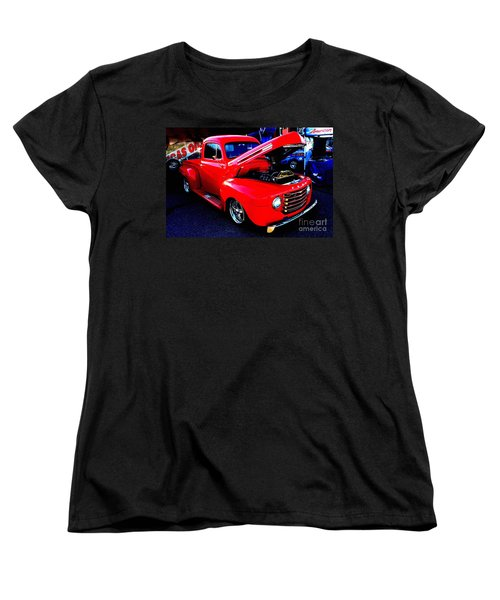 Shiny Red Ford Truck Women's T-Shirt (Standard Cut) by Natalie Ortiz