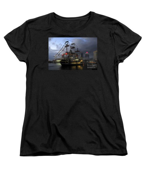 Ship In The Bay Women's T-Shirt (Standard Cut) by David Lee Thompson